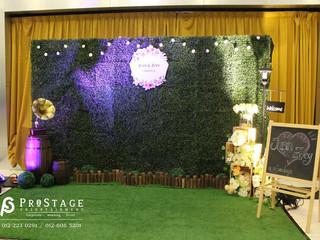 Garden Theme Wedding Dinner Decoration