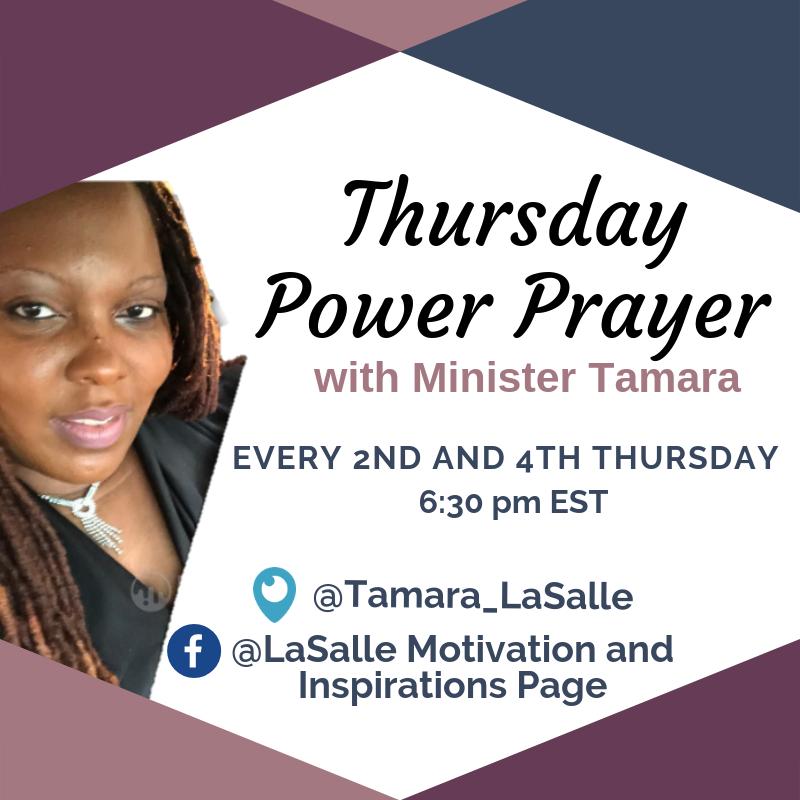 Thursday Power Prayer