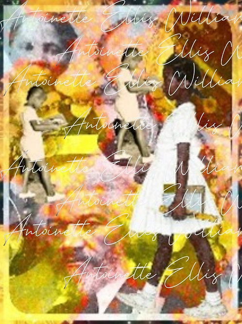 """""""Ruby Walks with the Ancestors"""" [Unframed] Digital Collage"""