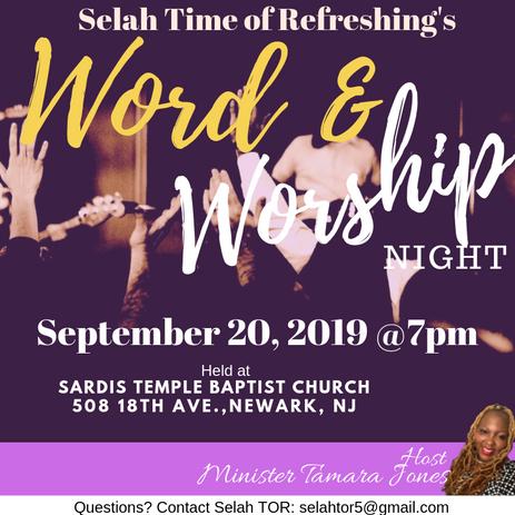 Selah Time of Refreshing's Word & Worship Night