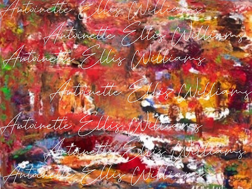 """""""Autumn's Fire/Breonna's Forest"""" [Unframed] Mixed Media on Canvas"""