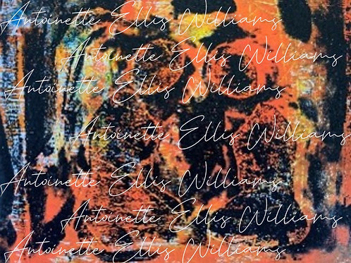 """Praying Women Series #1"" [Unframed]  Mono Print Acrylic & Ink"