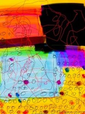"""""""Covid Doodles""""  [Unframed] Digital Collage"""