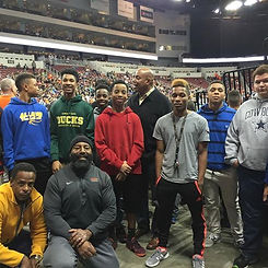Heroes and Mentees at Wichita Force Game