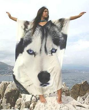 Kaftan White Wolf. Wolf