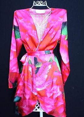 Kimono Coverup w/ Belt. Paris in Love