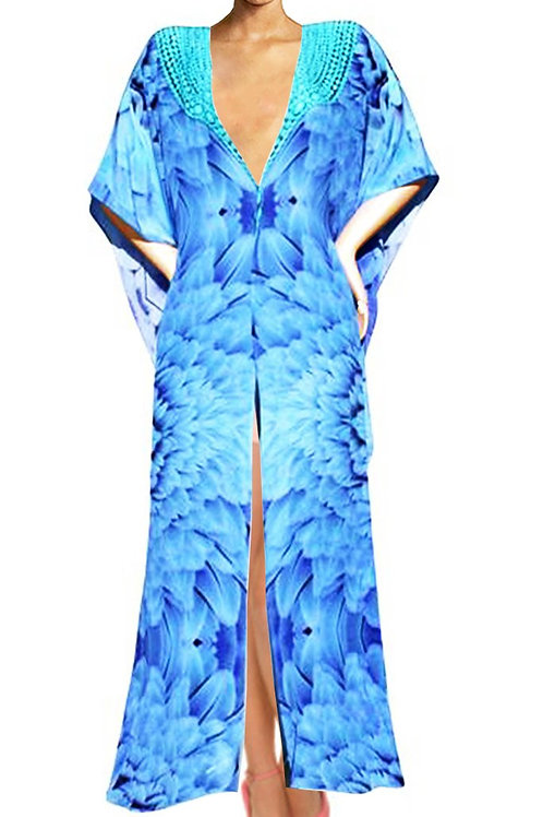 long Cardigan Blue feathers. Angel