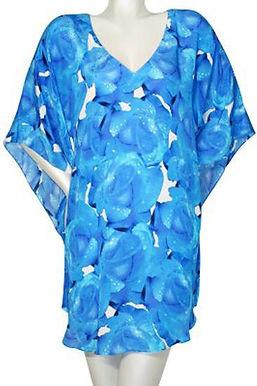 Tunic blue roses. Rose bleu