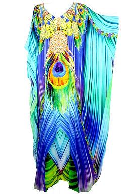 Kaftan turquoise. French Caribbean