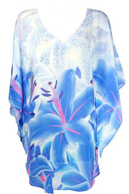 Mini dress top in silk. Belle