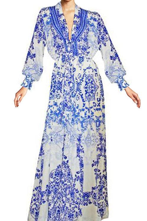 Dress pretty blue flowers. Victoria