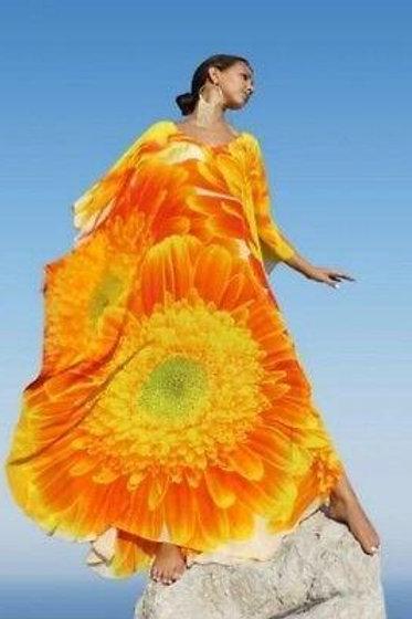 kaftan floral marguerite. Marguerite