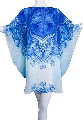 kimono Pretty blue flowers. Monte Carlo