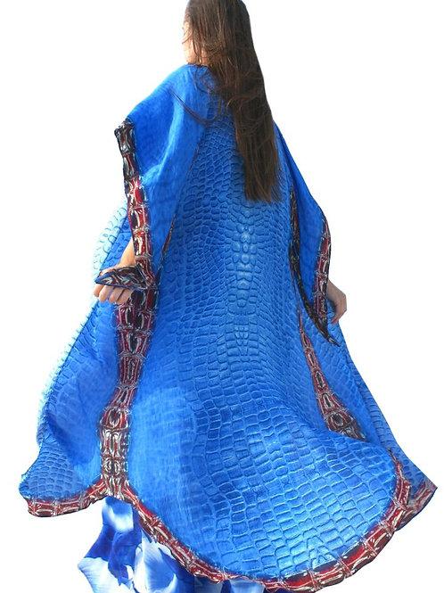Cardigan croco blue. Croco