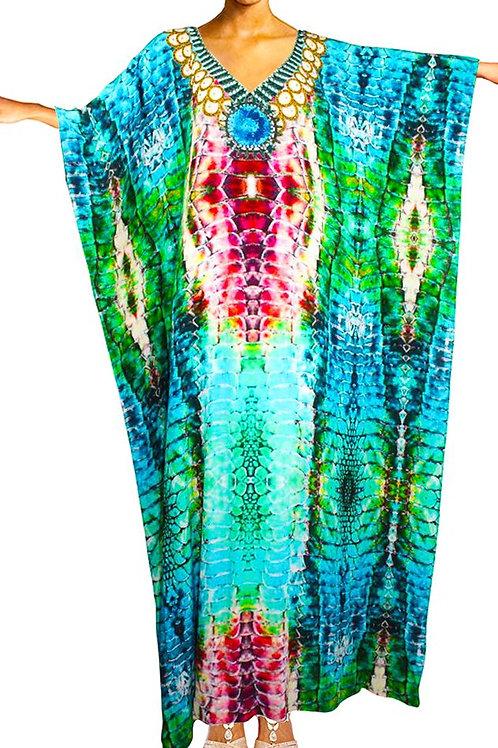 Kaftan turquoise Python Skin. Royal Python