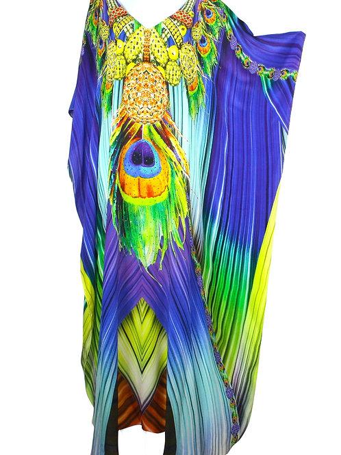 Kaftan in silk. French Caribbean