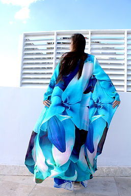 Long Casual Silk Jacket / Cardigan. Picasso