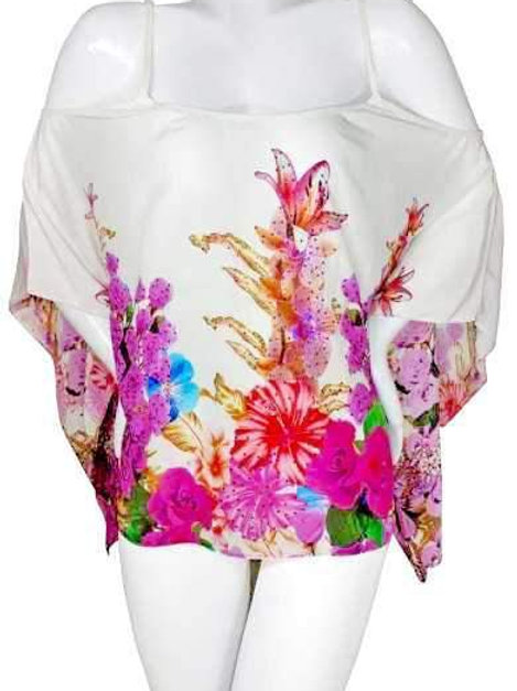 Top in silk multiway to wear. French Romance