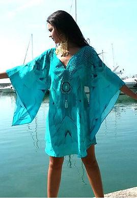 Tunic majestic plumage glistening necklace. Angel