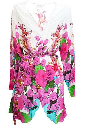Kimono Coverup w/ Belt. French Romance