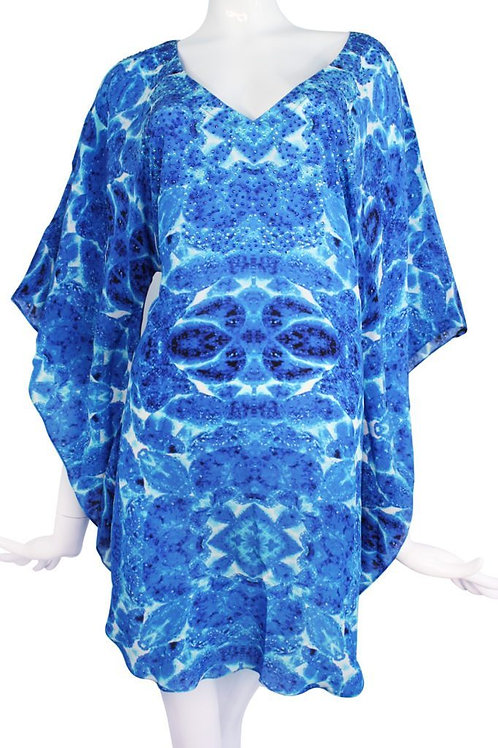 tunic attractive blue patterns.