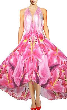 Pink dress. Life is beautiful. La Vie est Belle.