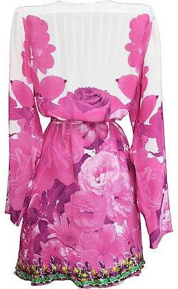 Kimono Coverup w/ Belt. French Bouquet
