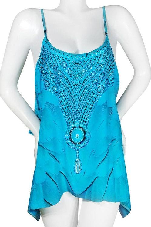 Strap Silk tunic multiway to wear. Angel