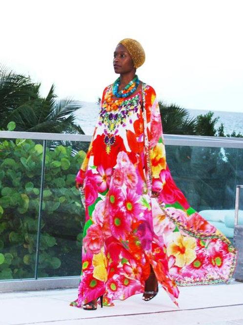 Floral dress versatile. French Bouquet