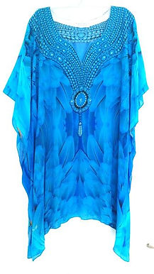 Short kaftan majestic plumage glistening necklace. Angel