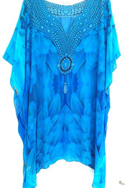 Short kaftan majestic plumage glistening necklace. Angel