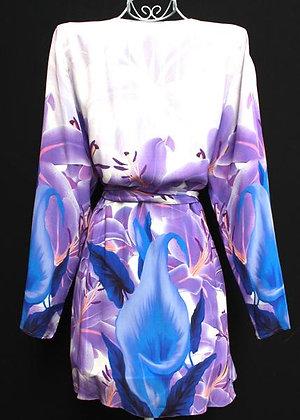 Kimono Coverup w/ Belt. la vie est belle violet
