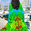 Thumbnail: Halter dress green feather. Emeraude Bird