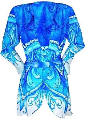 Kimono Coverup w/ Belt. Monte Carlo