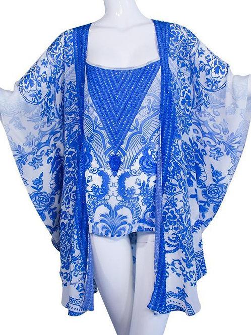 Coverup. Pretty blue flowers. Victoria