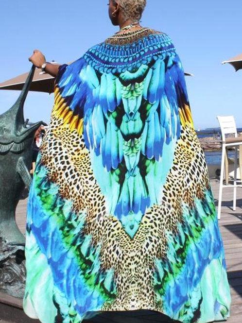 Kimono Coverup W/ Belt cap. Cote d'azur