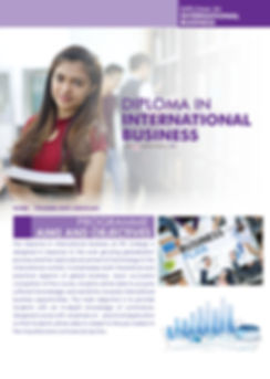 Diploma in international buiness study or Diploma in global business management only in IPK College (Penang College)