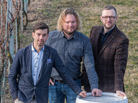 Führungsteam Weingut Esterházy Bernd Demmerer, Robert Krammer & Frank Schindler (v.l.n.r).