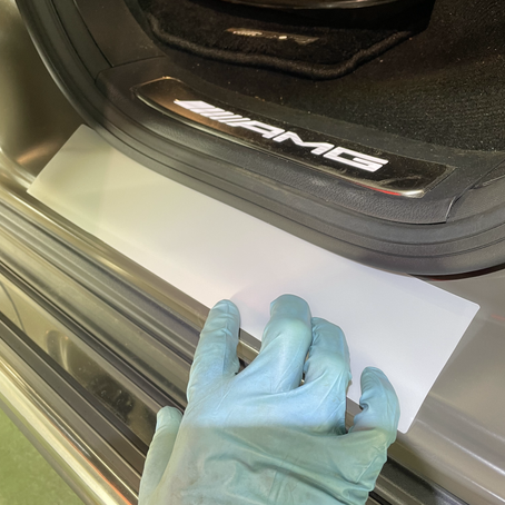 メルセデスベンツ ゲレンデ G63 AMG ステップ内側 マットプロテクションフィルム