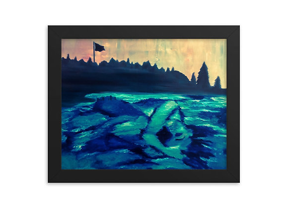 Woman in the Water Framed Poster Print