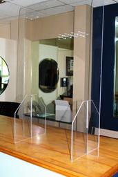 Temporary Plexi Glass Barrier