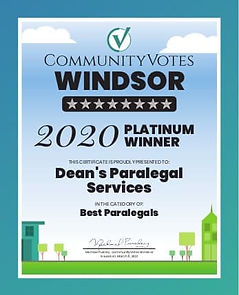 Dean's Paralegal Services - Windsor2020.