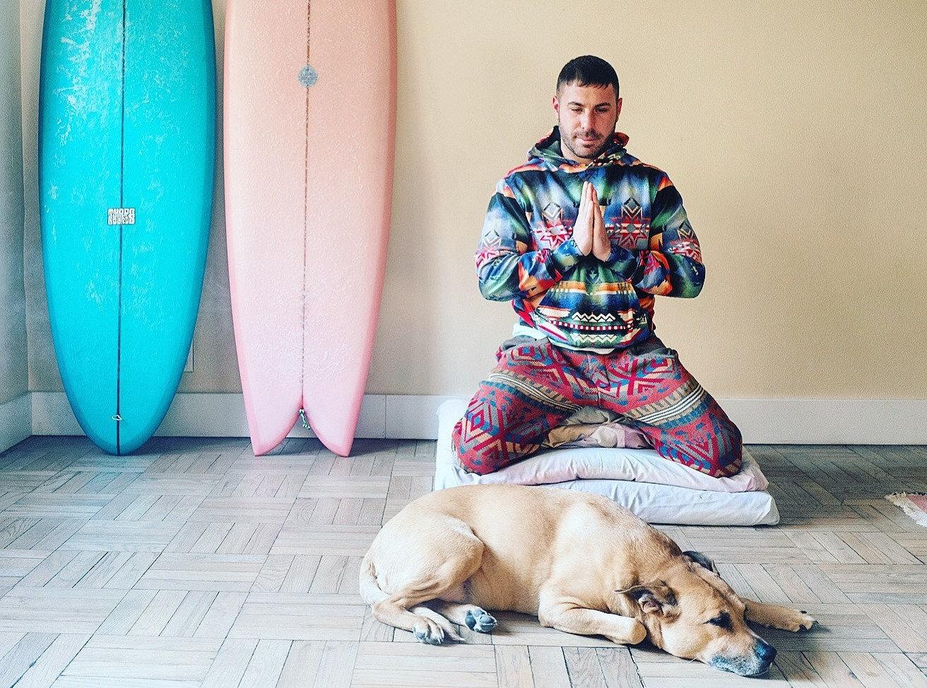 surfing Rabbi Yoga teacher meditation Kabbalah Judaism spirituality