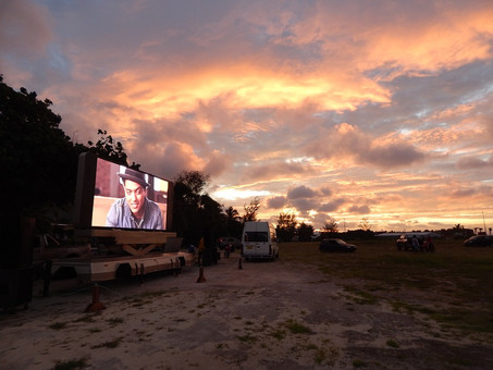 Around Rarotonga with our Mega Screen!