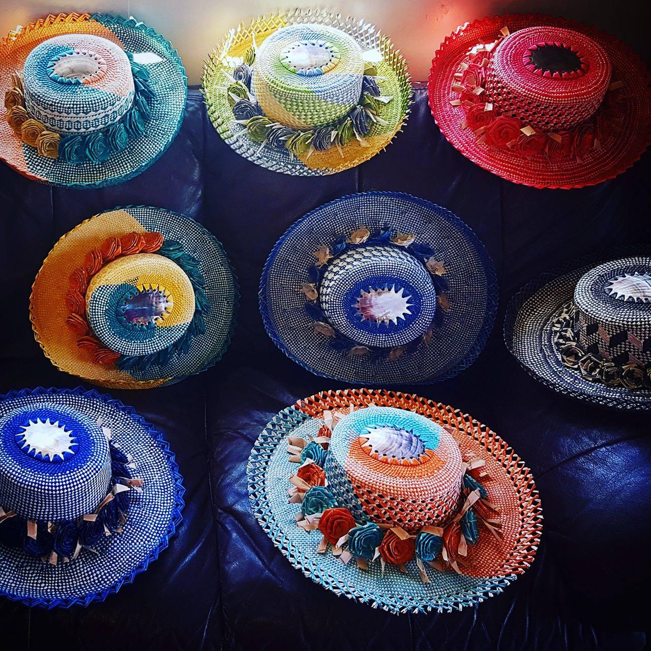 Coloured rito hats