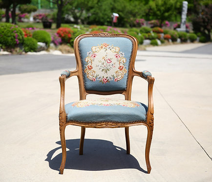 French antique needle point chair