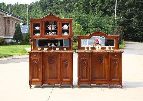 Display cupboard & Mirror Side bord