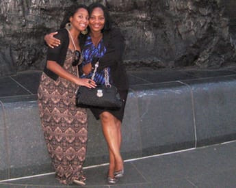 Pictured: Niniola Soleye with her beloved Aunt Dr. Stella Ameyo Adadevoh