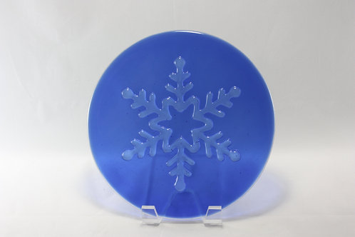 Fused Glass Snowflake Plate