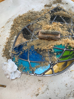 Cementing Stained glass